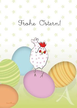 "Postkarte ""Frohe Ostern (Eiertanz)"""