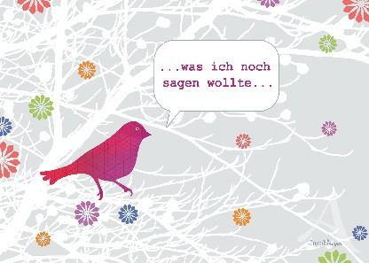 """Postkarte """"...was ich noch sagen wollte..."""""""