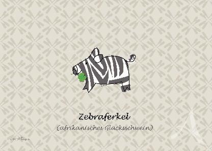 "Postkarte ""Zebraferkel"""