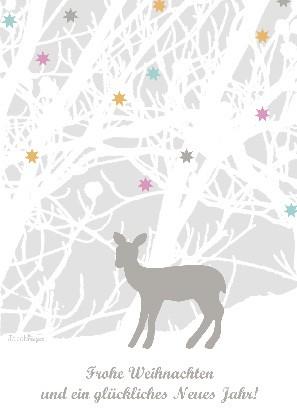 """Postkarte """"Frohe Weihnachten und ein glückliches Neues Jahr!"""""""