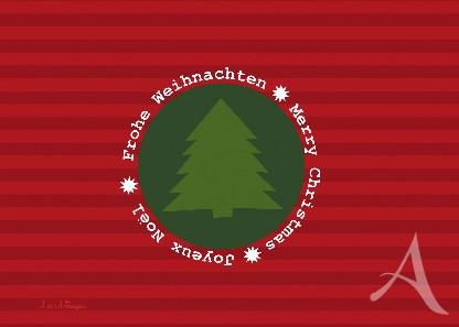 """Postkarte """"Frohe Weihnachten (Tannenbaum)"""""""
