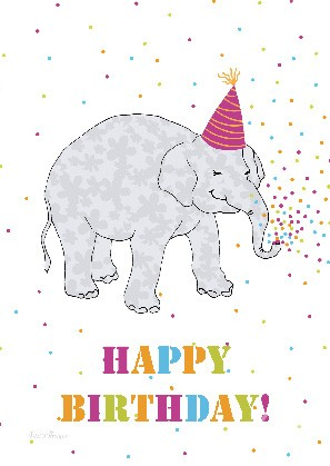 "Postkarte ""Happy Birthday! (Elefant)"""