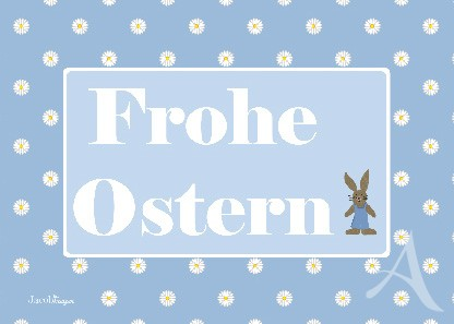 "Postkarte ""Frohe Ostern! (Hase)"""