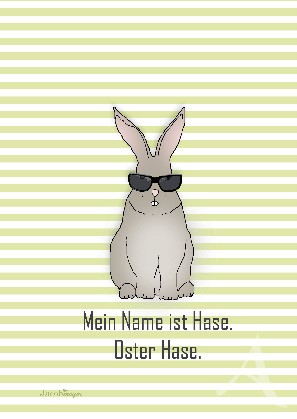 """Postkarte """"Mein Name ist Hase. Oster Hase"""""""