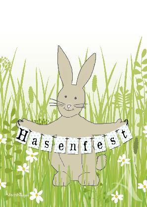 "Postkarte ""Hasenfest"""