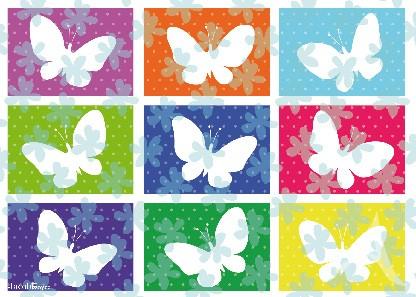 "Postkarte ""Bunte Schmetterlinge"""
