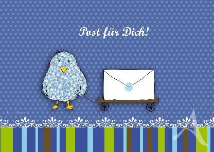 "Postkarte ""Post für Dich!"""