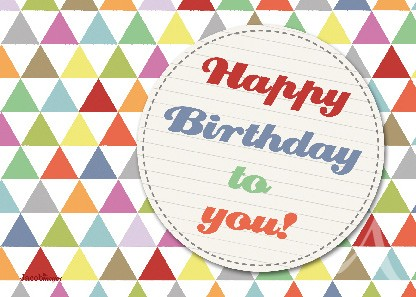 "Postkarte ""Happy Birthday to you!"""