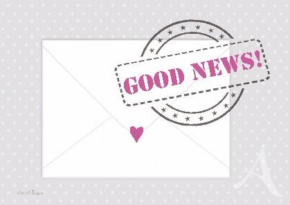 """Postkarte """"Good News!"""""""