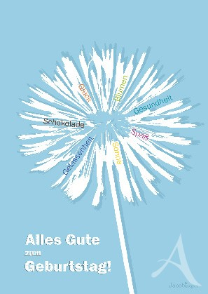 "Postkarte ""Alles Gute zum Geburtstag! (Pusteblume)"""