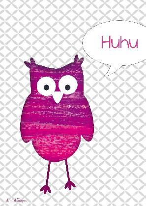 "Postkarte ""Huhu-Uhu"""