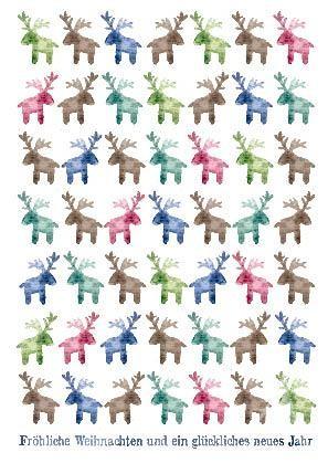 """Postkarte """"Frohe Weihnachten und ein glückliches neues Jahr"""""""