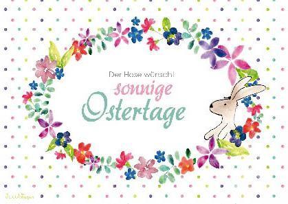 """Postkarte """"Der Hase wünscht sonnige Ostertage"""