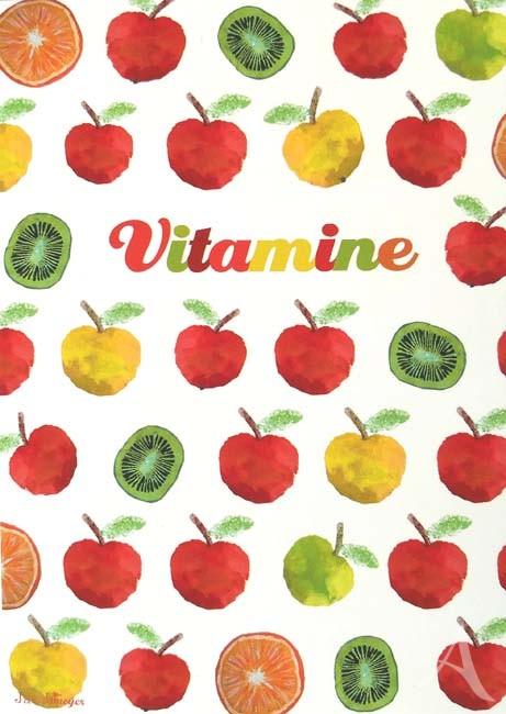 """Postkarte """"Vitamine"""" (oder: """"Gute Besserung""""...;-))"""