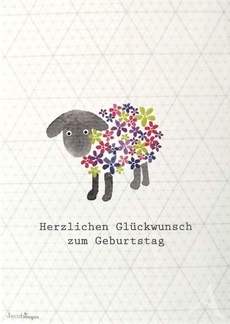 """Postkarte """"Herzlichen Glückwunsch zum Geburtstag"""" (Schaf)"""