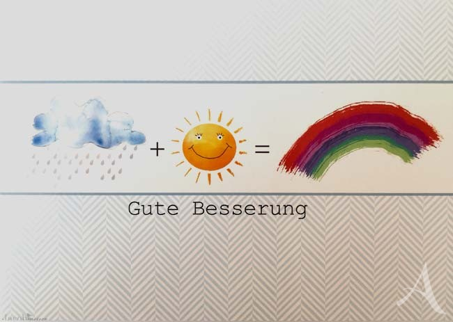 "Postkarte ""Gute Besserung"" (Regenbogen)"