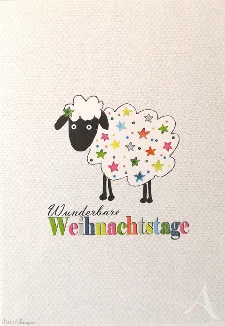 """Postkarte """"Wunderbare Weihnachtstage"""" (Schaf)"""