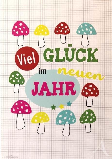 """Postkarte """"Viel Glück im neuen Jahr"""" (Neujahr)"""