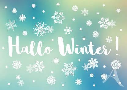 "Postkarte ""Hallo Winter!"""