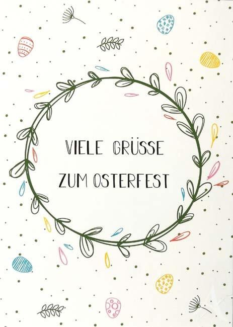 """Postkarte """"Viele Grüße zum Osterfest"""""""