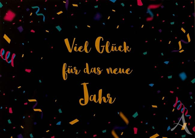 """Postkarte """"Viel Glück für das neue Jahr"""""""