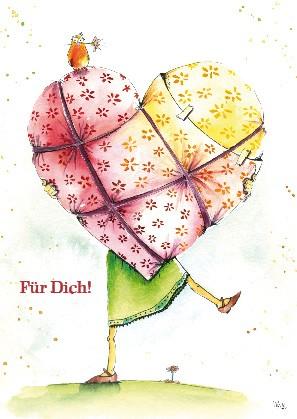 """Postkarte """"Für Dich!"""""""