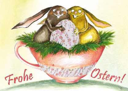 "Postkarte ""Frohe Ostern!"""
