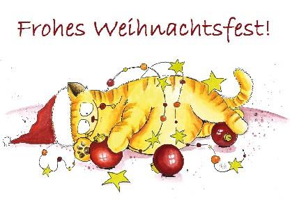 "Postkarte ""Frohes Weihnachtsfest!"""