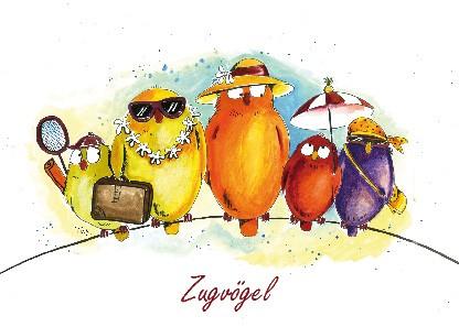 """Postkarte """"Zugvögel"""""""