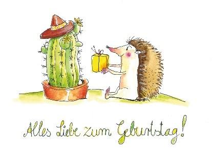 """Postkarte """"Alles Liebe zum Geburtstag !"""""""