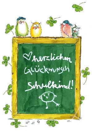 """Postkarte """"Herzlichen Glückwunsch - Schulkind"""""""
