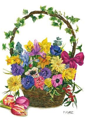 """Postkarte """"Blumenkorb"""""""