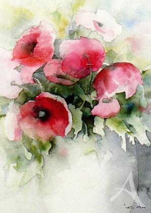 """Postkarte """"Klatschmohn in Vase"""""""