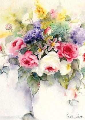 """Postkarte """"Großer Blumenstrauß"""""""