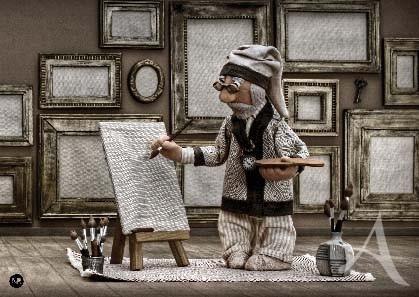 """Postkarte """"Uropa Rudolphs fantastischer Nixismus"""""""