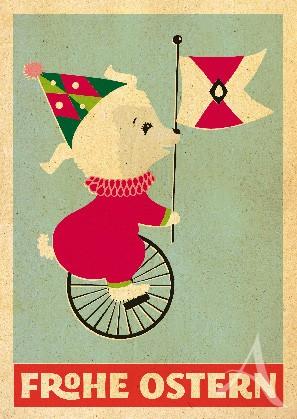 "Postkarte ""Fräulein Lämmchen"""