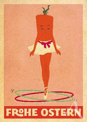 """Postkarte """"Mademoiselle Carotte"""""""