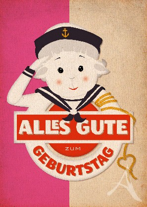 "Postkarte ""Geburtstag (Schaf)"""