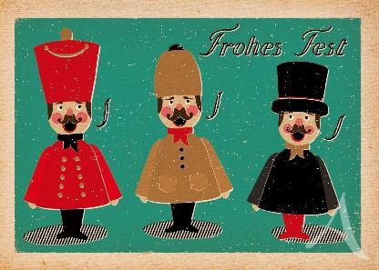 """Postkarte """"3 Räuchermännchen"""""""