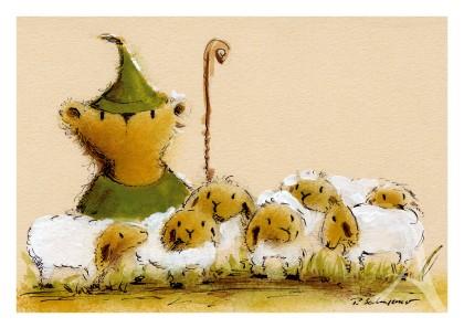 """Postkarte """"... der Vater hüt die Schaf"""""""