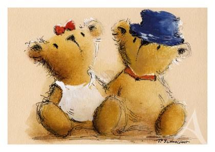 """Postkarte """"Das Bären-Paar"""""""