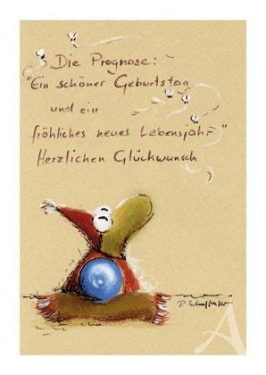 "Postkarte ""Die Prognose"""