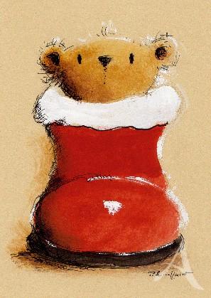 """Postkarte """"Weihnachtsgrüße aus dem Stiefel"""""""