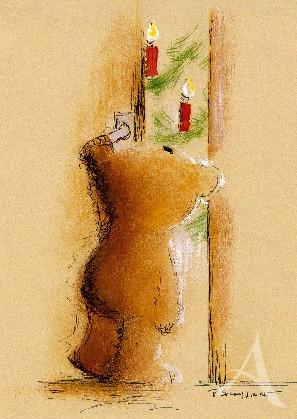 """Postkarte """"Heiligabend"""""""