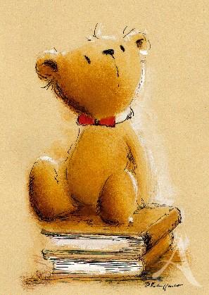 """Postkarte """"Der Bücherfreund"""""""