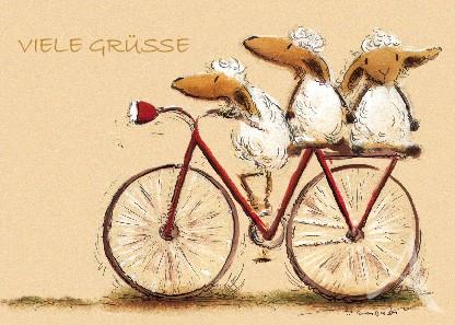 """Postkarte """"Viele Grüße (Schafe)"""""""