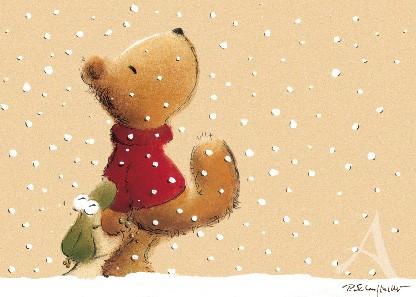 """Postkarte """"Spaziergang im Schnee"""""""
