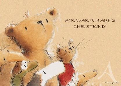 """Postkarte """"Wir warten auf's Christkind!"""""""