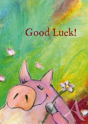 "Postkarte ""Good Luck!"""
