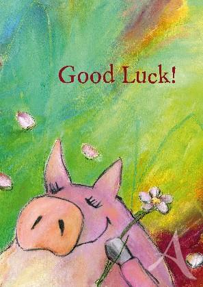 """Postkarte """"Good Luck!"""""""